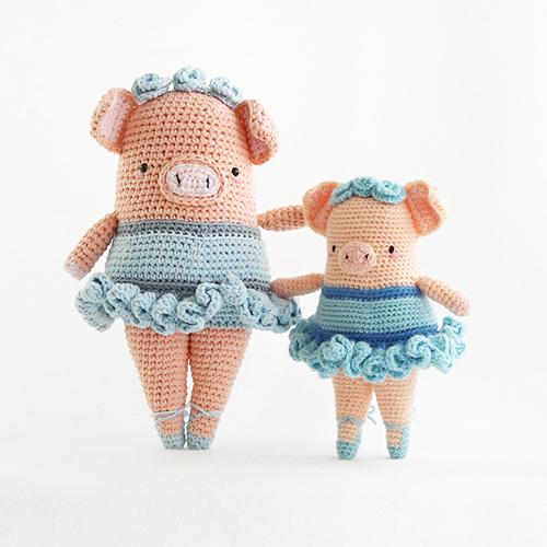 Amigurumi pattern for a dancing Gunter pig. Crochet piglet | 500x500
