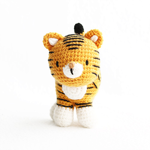 Crochet tiger rug crochet pattern! - Gathered | 500x500