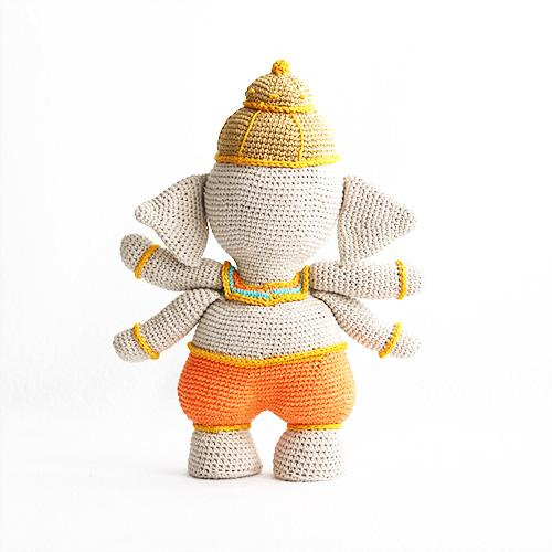 Ganesha dios hindu amigurumi | Lil' Sweet Dolls | 500x500